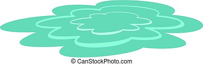 Water puddle icon isolated - Water puddle icon flat isolated...