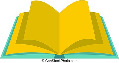 Open book with yellow pages icon isolated - Open book with...