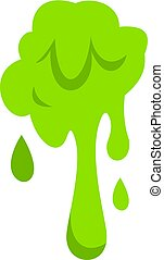 Green slime spot icon isolated - Green slime spot icon flat...