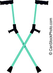 Other crutches icon isolated - Other crutches icon flat...