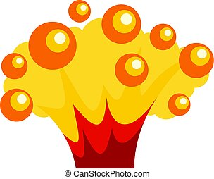 High power explosion icon isolated - High power explosion...