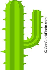 Green mexican cactus icon isolated - Green mexican cactus...