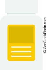 Pharmaceuticals bottle icon isolated - Pharmaceuticals...