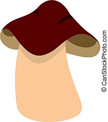 Boletus icon isolated - Boletus icon flat isolated on white...