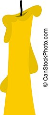 Church candle icon isolated - Church candle con. Flat...