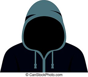 Figure in a hoodie icon isolated - Figure in a hoodie icon...