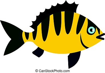 Perch fish icon isolated
