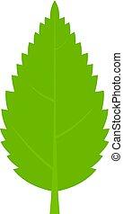 Green hornbeam leaf icon isolated - Green hornbeam leaf icon...