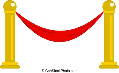 Barrier icon isolated - barrier icon flat isolated on white...