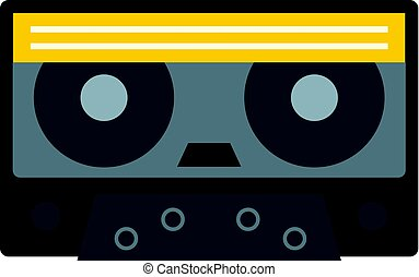 Retro cassette tape icon isolated - Retro cassette tape icon...