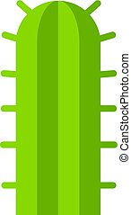 Green cactus plant icon isolated - Green cactus plant icon...