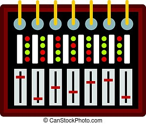 Studio sound mixer icon isolated - Studio sound mixer icon...