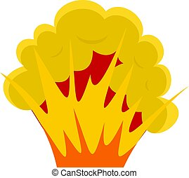 Flame and smoke icon isolated - Flame and smoke icon flat...