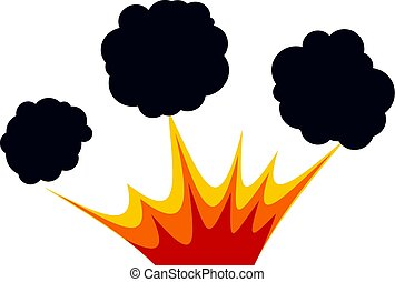 Explosion icon isolated - Explosion icon flat isolated on...