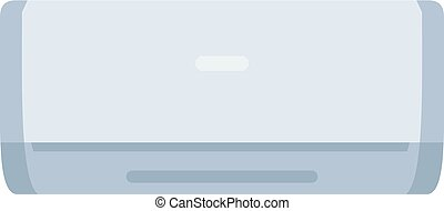 White air conditioner machine icon isolated - White air...