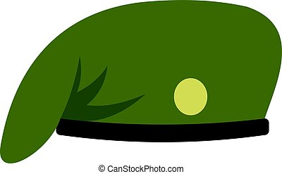Military cap icon isolated