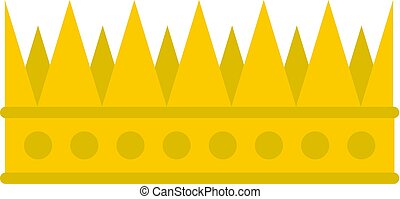 Regal crown icon isolated - Regal crown icon flat isolated...