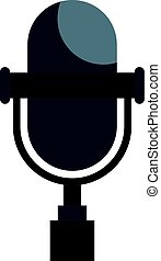 Vintage classic microphone icon isolated - Vintage classic...