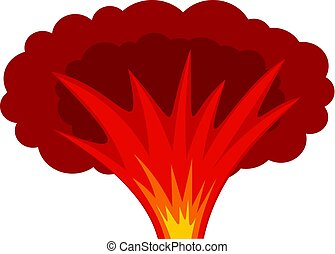 Atomical explosion icon isolated - Atomical explosion icon...