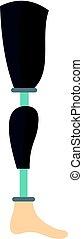 Prosthesis leg icon isolated - Prosthesis leg icon flat...