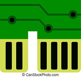 Computer chipset icon isolated - Computer chipset icon flat...
