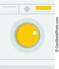 Washing machine icon isolated
