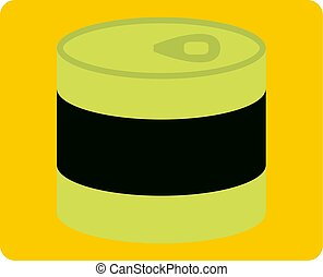 Closed tin can icon isolated - Closed tin can icon flat...