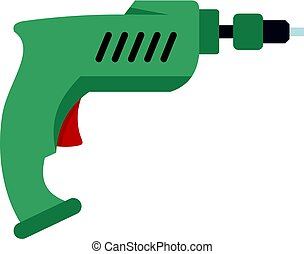Drill icon isolated - Drill icon flat isolated on white...