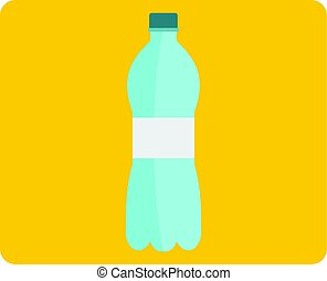 Bottle of water icon isolated