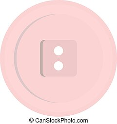 White sewing button icon isolated - White sewing button icon...