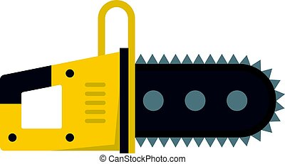 Chainsaw icon isolated - Chainsaw icon flat isolated on...