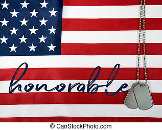 honorable military dog tags - word honorable and military...
