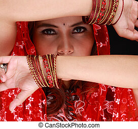 middle eastern dancing beauty model - Portrait of a middle...