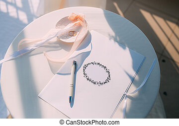 A table for a wedding ceremony in Montenegro. Wedding...