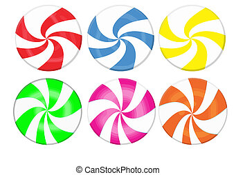 candy collection - Striped candy collection. Lollipop set...