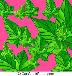 background Ivy leaves