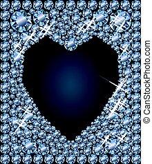 Diamond hearts poker elements, vector illustration