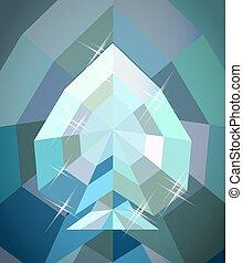 Diamond spades poker wallpaper, vector illustration