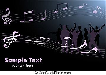 Image of a music background image with editable text.