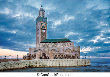 Casablanca mosque - The Hassan II Mosque largest mosque in...