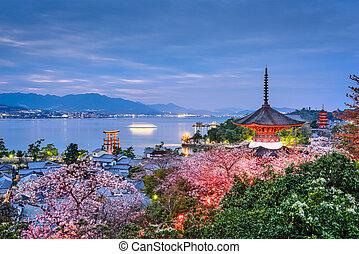 Miyajima, Japan in Spring - Miyajima Island, Hiroshima,...
