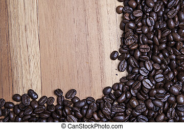 coffee beans in the corner