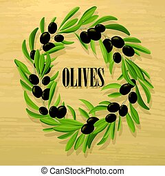 Cartoon Natural Black Olive Template