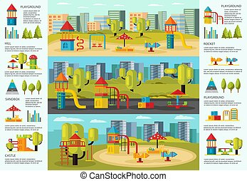 Colorful Playground Infographic Concept - Colorful...