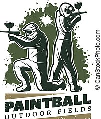 Vintage Paintball Club Template - Vintage paintball club...