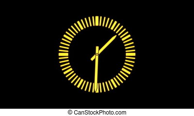 Clock - Motion background with spinning clock in 12 hour...