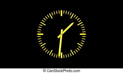 ClockE-17 - Motion background with spinning clock in 12 hour...