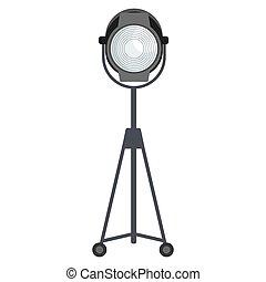 spotlight for film studio - Spotlight for film studio. Flat...