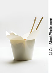 Korean noodles on isolated background - Korean noodles in...