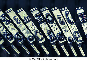 types of an old typewriter - types and characters of an old...